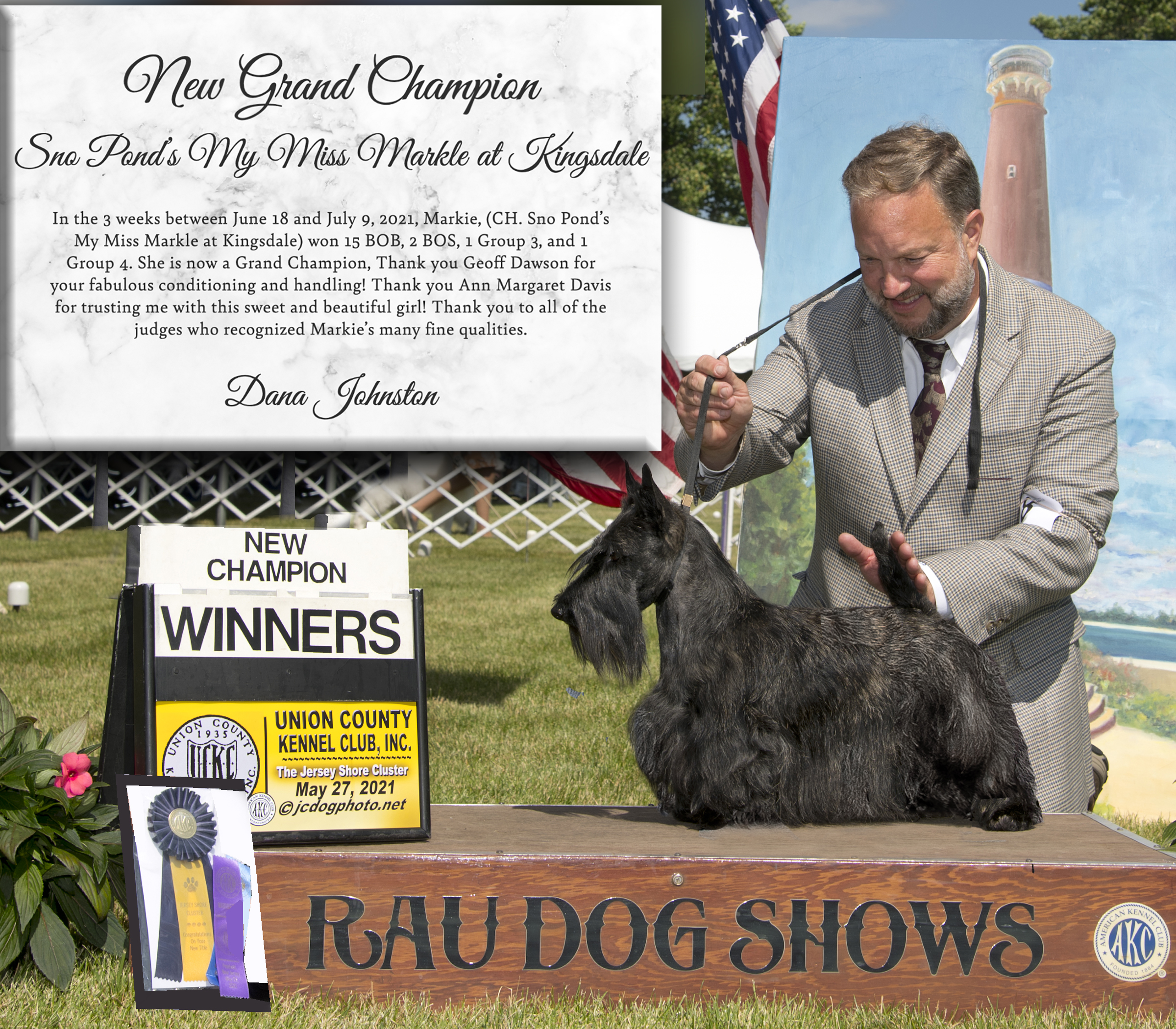 CH Sno Pond's My Miss Markle at Kingsdale is a new Grand Champion